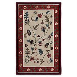 Brumlow Mills Farrah 2-Foot 6-Inch x 3-Foot 10-Inch Washable Accent Rug in Rich Red
