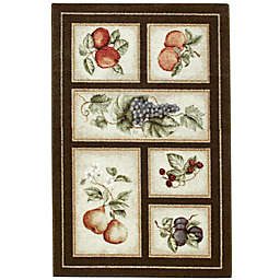 Brumlow Mills Eden's Bounty 2-Foot 6-Inch x 3-Foot 10-Inch Washable Accent Rug in Chocolate