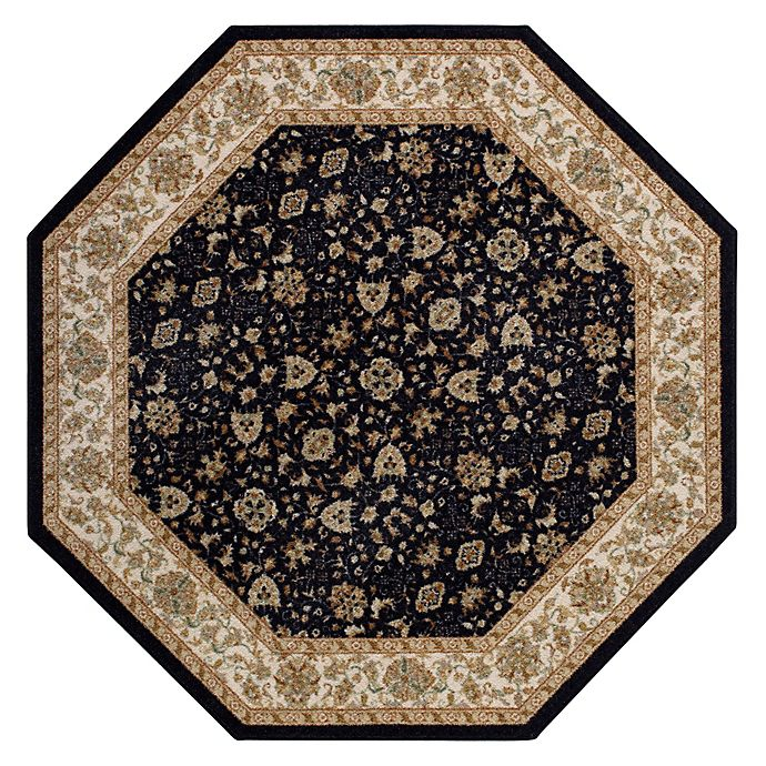 Washable Rugs On Amazon: Buy Amani 5-Foot Octagonal Rug In Black From Bed Bath & Beyond