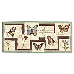 Brumlow Mills Blooms &  Butterflies Multicolor Accent Rug