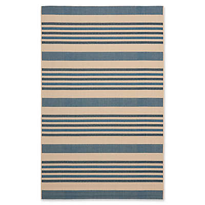 Safavieh Courtyard 5-Foot x 8-Foot Indoor/Outdoor Area Rug in Blue