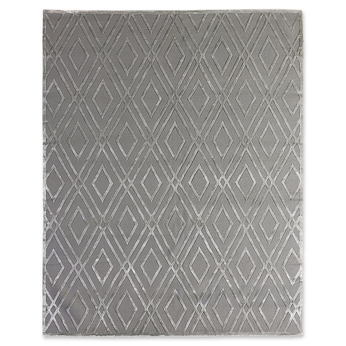 Alternate image 1 for Exquisite Rugs Metro Velvet 8-Foot x 10-Foot Area Rug in Platinum