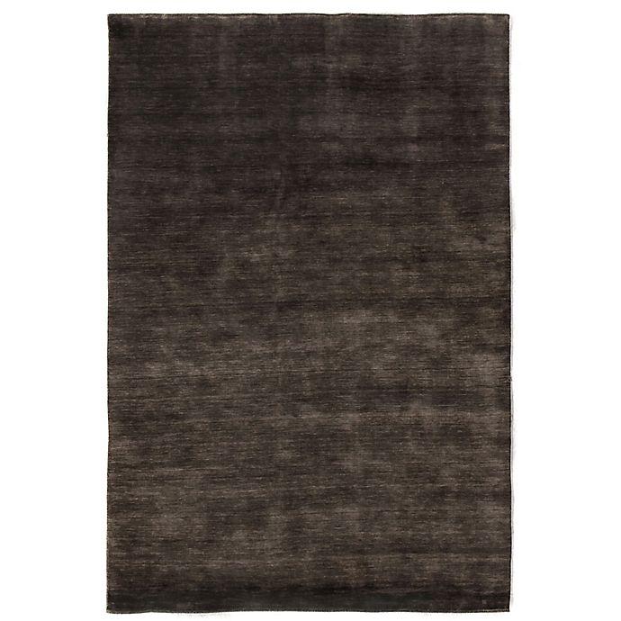 Alternate image 1 for Exquisite Rugs Wool Plain 8-Foot x 10-Foot Area Rug in Light Charcoal