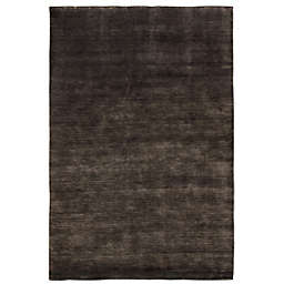 Exquisite Rugs Wool Plain 8-Foot x 10-Foot Area Rug in Light Charcoal