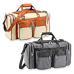 Piel® Leather Duffle Bag with Pockets