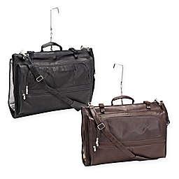 Piel® Leather 22-Inch Classic Tri-Fold Garment Bag