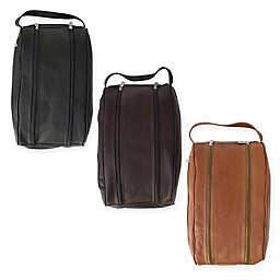 Piel® Leather 14-Inch Classic Double Compartment Shoe Bag