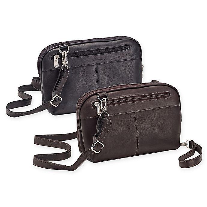 Piel® Leather 12.75-Inch Top-Zip Shoulder Bag Crossbody Hobo Handbag ... 1b55b44c1878f