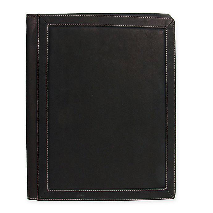 Alternate image 1 for Piel® Leather 3-Ring Binder Folder in Chocolate
