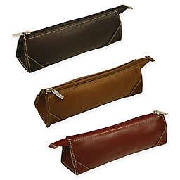 Piel® Leather Brush Pencil Bag