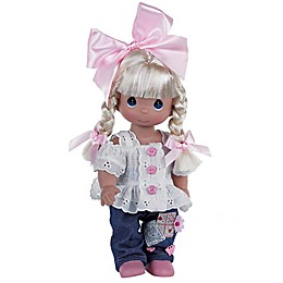 Precious Moments® Cute as a Button Doll with Blonde Hair