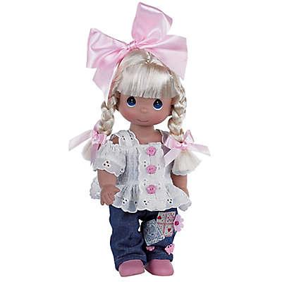 Precious Moments® Cute as a Button Doll with Blonde Hair