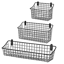 Spectrum® Vintage Cabinet & Wall Mount Basket in Grey