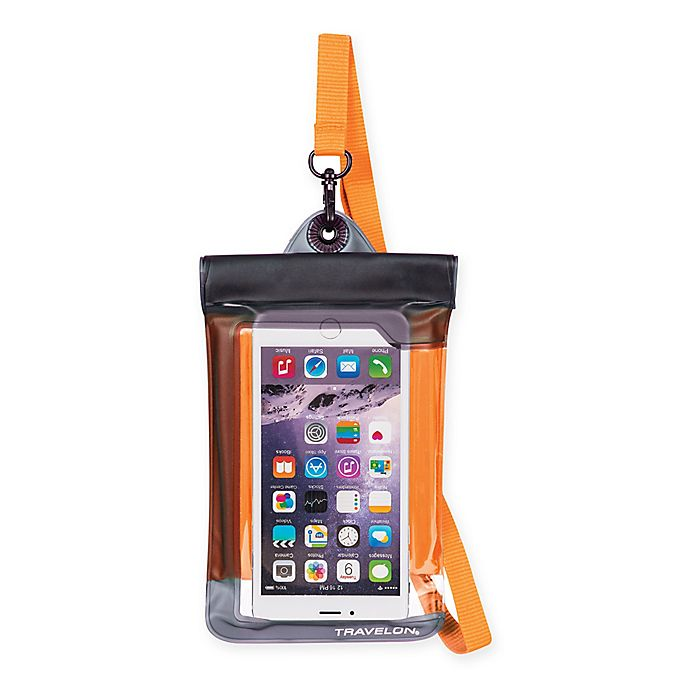 Alternate image 1 for Travelon® Waterproof Smart Phone/Digital Camera Pouch in Orange