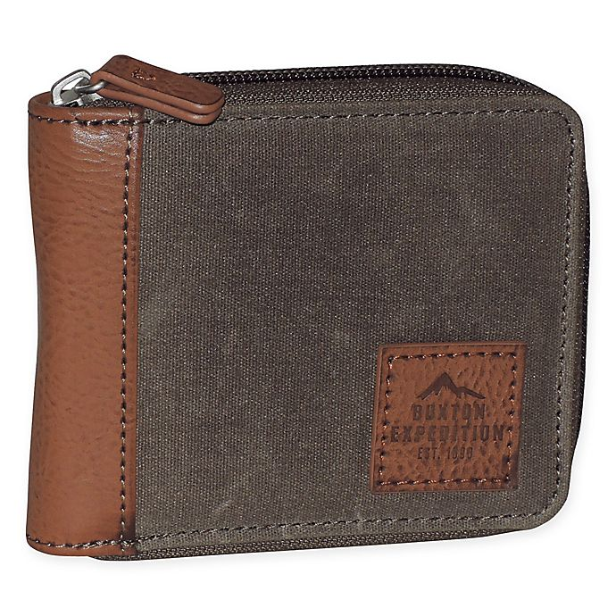 Alternate image 1 for Buxton Huntington Gear RFID Wallet in Saddle