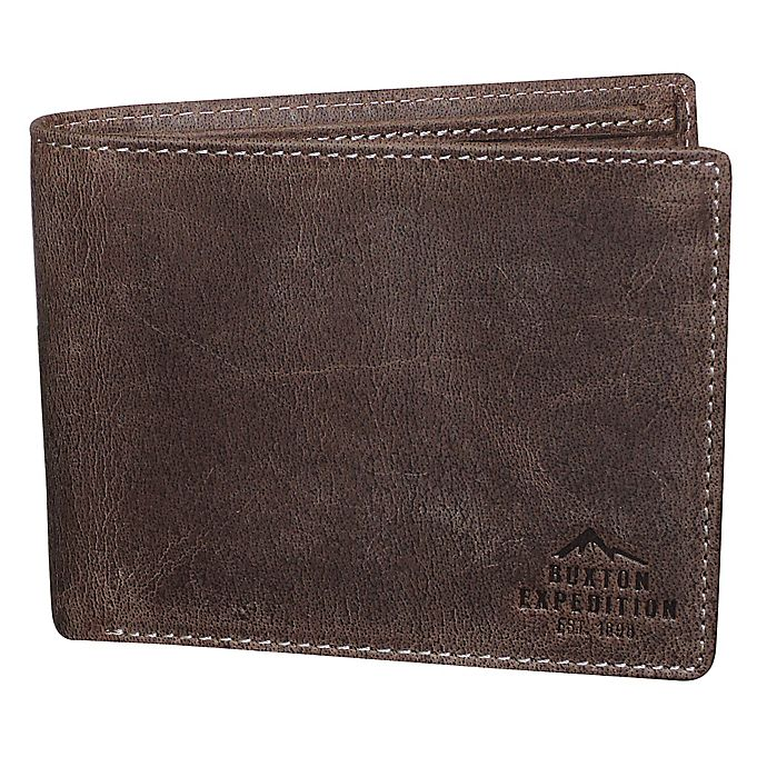 Alternate image 1 for Buxton® Expedition RFID Slimfold Passport Wallet in Walnut