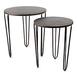 Nesting Tables in Antique Bronze (Set 2)