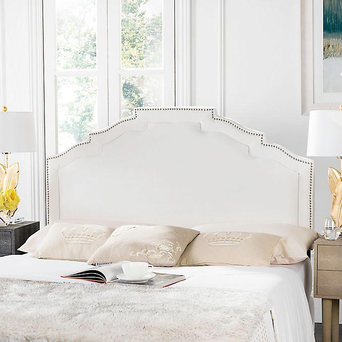 Alternate image 1 for Safavieh Alexia Upholstered Full Headboard in White