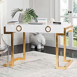 Safavieh Couture Maia Lacquer Writing Desk in White