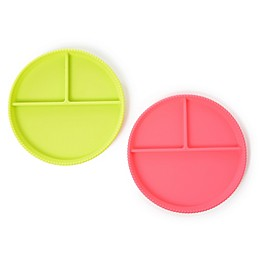 chewbeads® CB Eat Silicone Divided Plates (Set of 2)