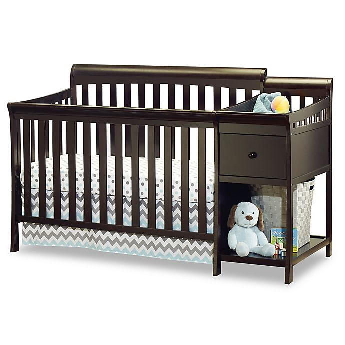Alternate image 1 for Sorelle Florence 4-in-1 Convertible Crib and Changer in Espresso