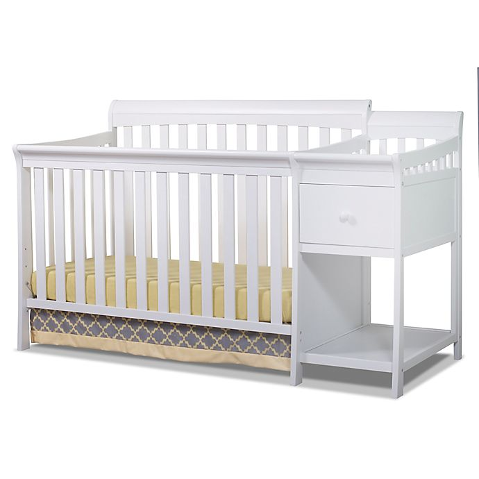 Alternate image 1 for Sorelle Florence 4-in-1 Convertible Crib and Changer