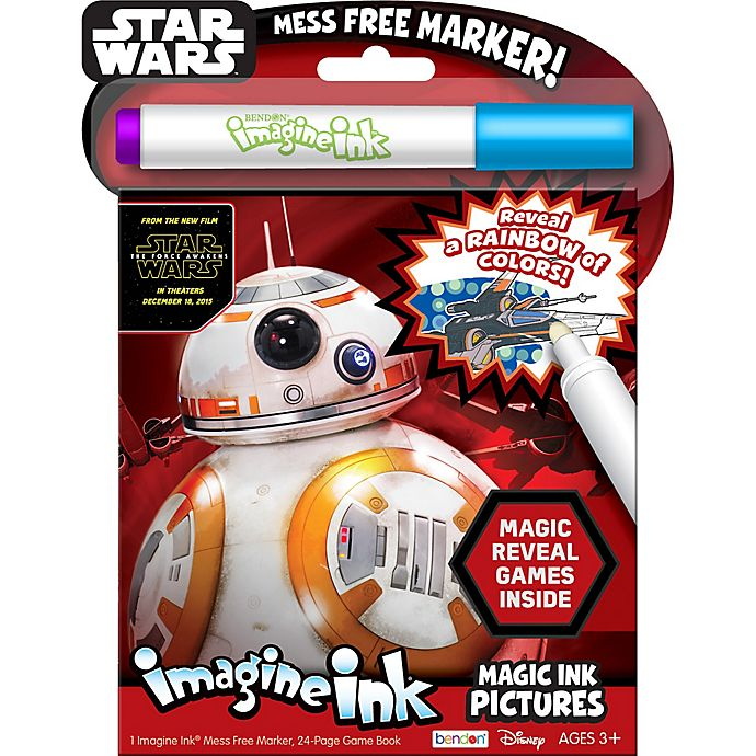 Alternate image 1 for Star Wars™ Imagine Ink® Magic Ink with Marker Activity Book