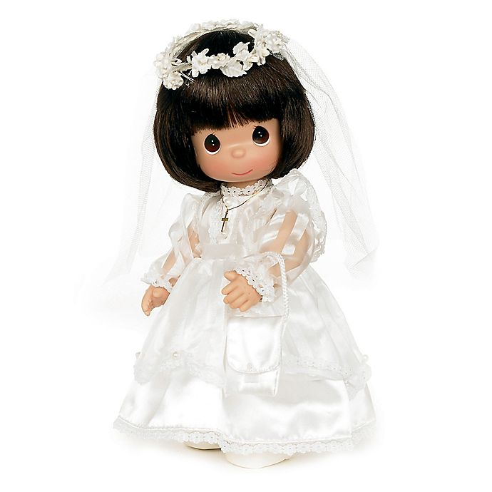 Alternate image 1 for Precious Moments® Communion Doll with Brown Hair