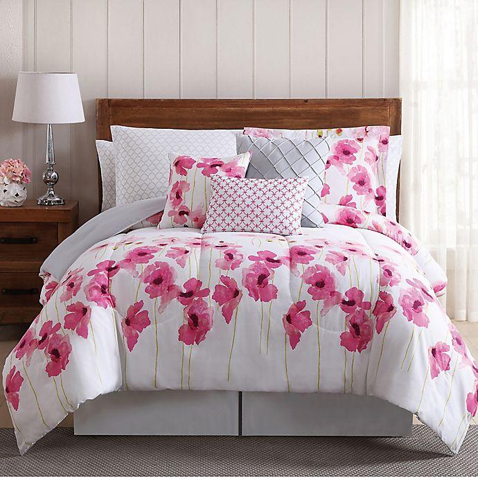 Springfield Floral 12 Piece Comforter Set In Pinkwhite Bed Bath