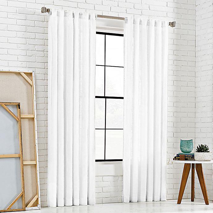 Alternate image 1 for KAS Room 108-Inch Bespoke Rod Pocket Back-Tab Panel in White