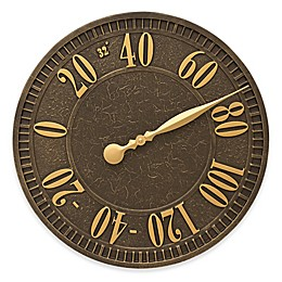 Whitehall Products Geneva Indoor/Outdoor Wall Thermometer in Aged Bronze