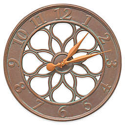 Whitehall Products Medallion Indoor/Outdoor Wall Thermometer in Copper Verdigris