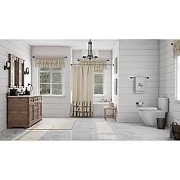 Ruffled Elegance Traditional Bathroom