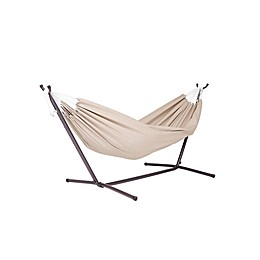 Vivere 9-Foot Double Hammock in Sunbrella® Fabric with Stand