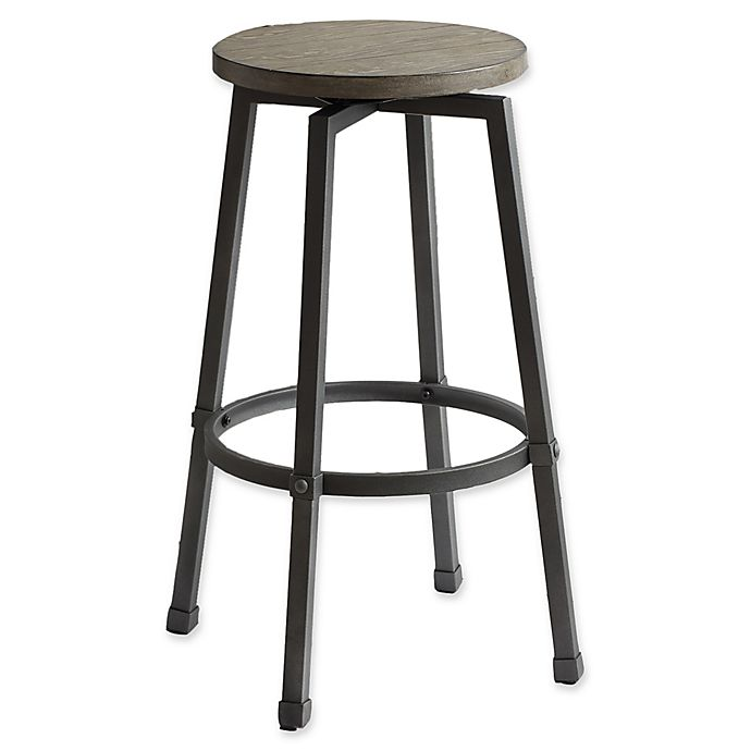 Miraculous Modern Farmhouse Adjustable Bar Stool In Grey Bed Bath Ocoug Best Dining Table And Chair Ideas Images Ocougorg