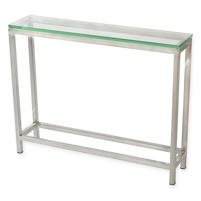Soho Small Console Table In Stainless Steel Bed Bath Beyond