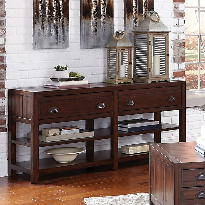 Fantastic Donny Osmond Home Rosanna Sofa Table In Vintage Cocoa Bed Pabps2019 Chair Design Images Pabps2019Com
