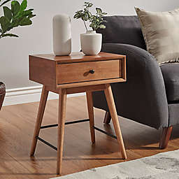 Verona Home Landon Mid-Century Accent Table in Brown