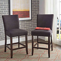 Verona Home Tosca Linen Counter Chair (Set of 2)