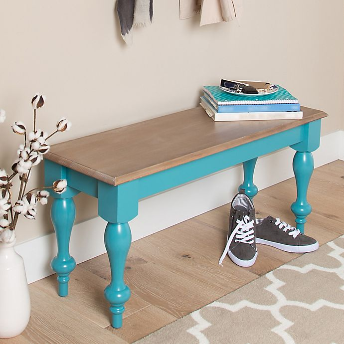 Alternate image 1 for Kate and Laurel Sophia Bench in Teal