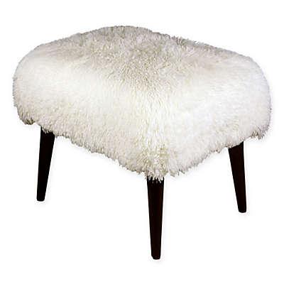 Skyline Furniture Rectangle Ottoman in White