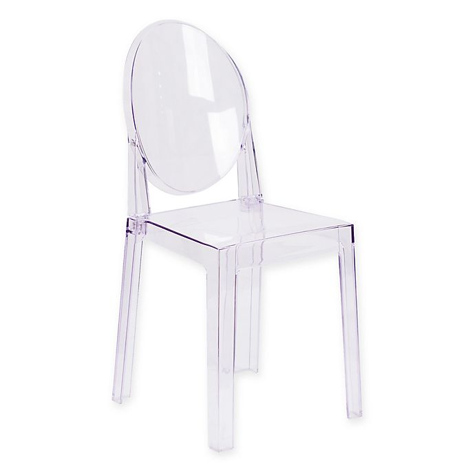 Alternate image 1 for Flash Furniture 18-Inch Oval Back Ghost Chair