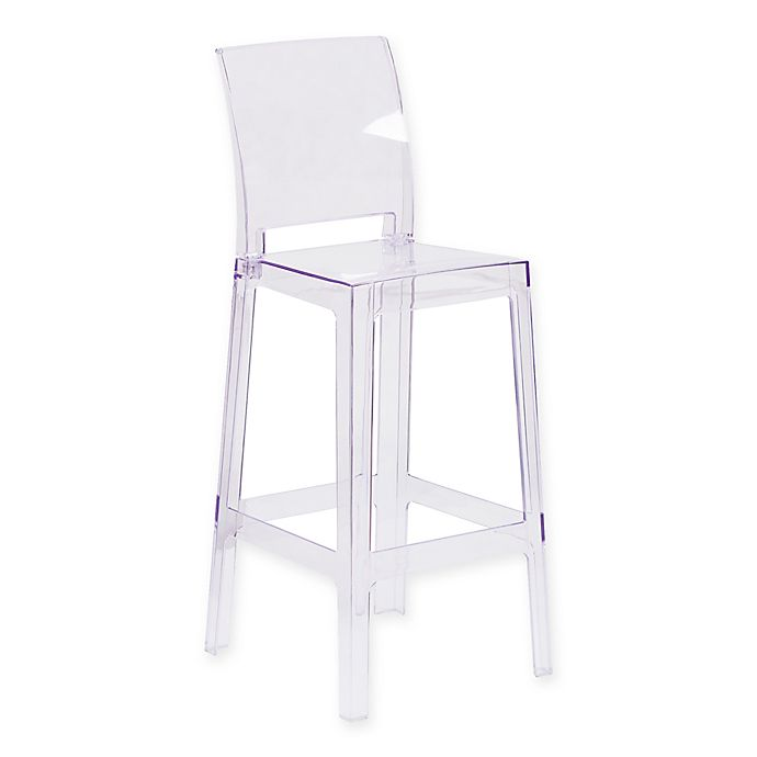 Alternate image 1 for Flash Furniture Square Back Ghost Chair
