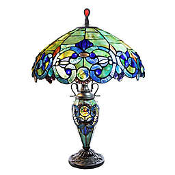 Victorian Style Stained Glass Table Lamp