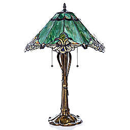 Crystal Lace Table Lamp in Green