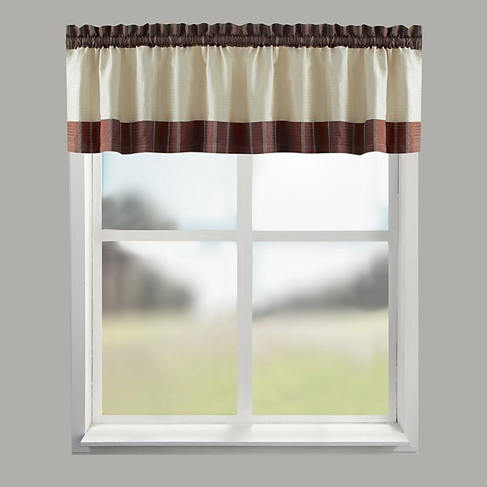 Alternate image 1 for Croscill® Fairfax Bath Window Curtain Valance in Spice