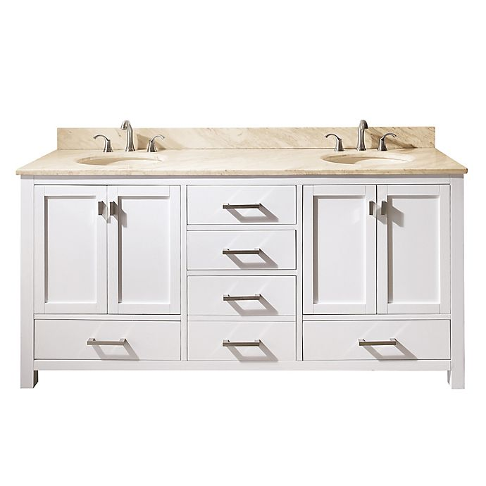 Avanity Modero 73-Inch Double Vanity with Marble Top in ...