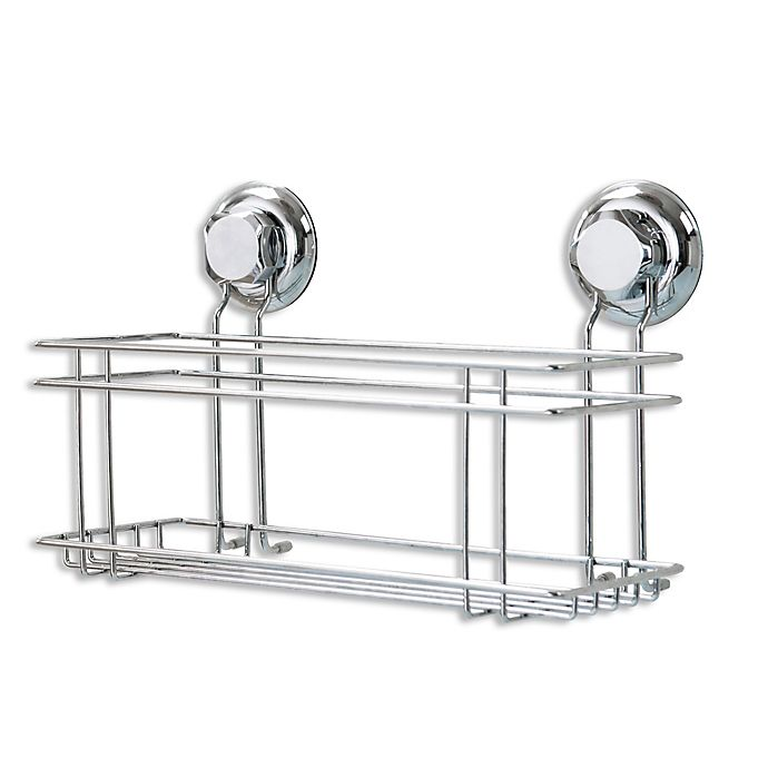 Suction Shower Caddy In Steel Bed