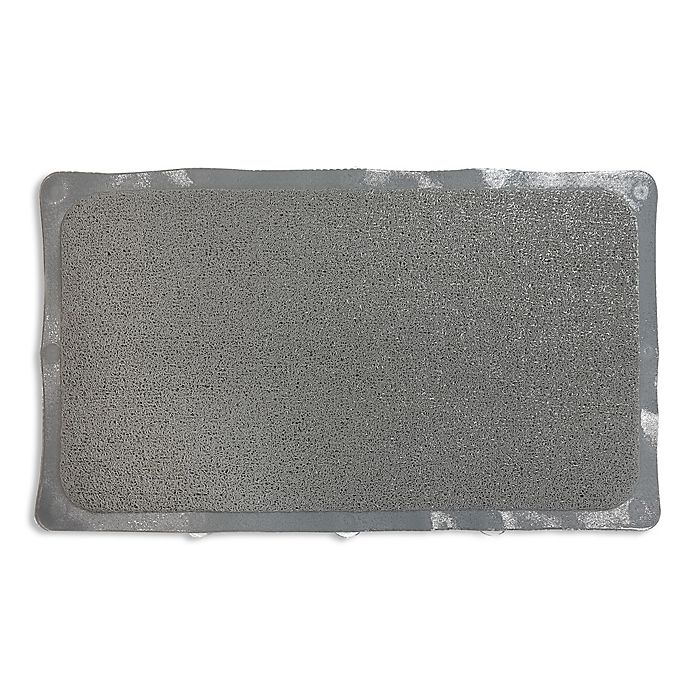 Alternate image 1 for Bath Carpet Ultra Shower Mat with Anti-Slip Backing in Grey