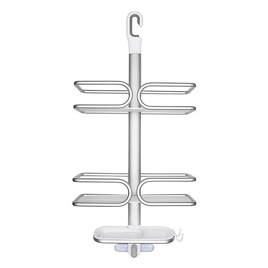 Alternate image 1 for OXO Good Grips® 3-Tier Shower Caddy in Aluminum